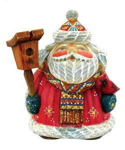 Feathered Friends Santa Figurine Ornament
