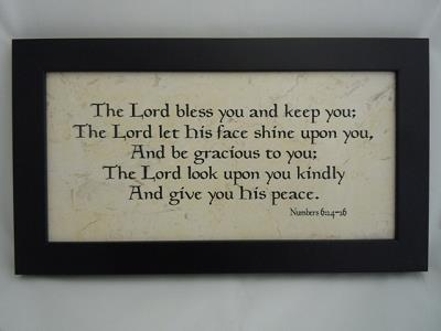 The Lord Bless and Keep You - Wall Plaque