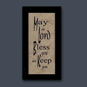 May the Lord Bless You - Jerusalem Stone Wall Plaque