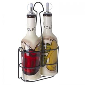 Cucina Italiana Ceramic Oil and Vinegar Cruet Set