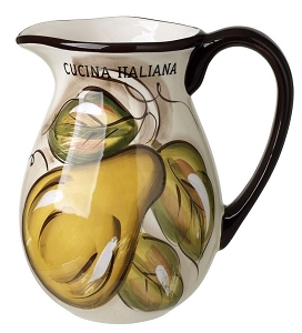 Cucina Italiana Ceramic 2 Liter Wine or Water Jug