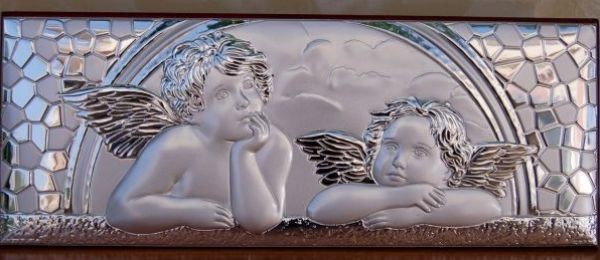 Guardian Angel Plaque - Italian 925 Argento Sterling Silver