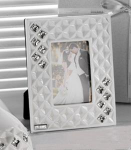 Italian Bone China Picture Frame With Swarovski Crystal Elements