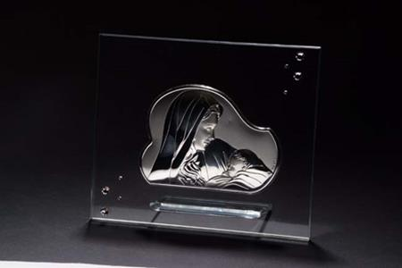 Italian Crystal 925 Silver Argento Mother & Child Icon