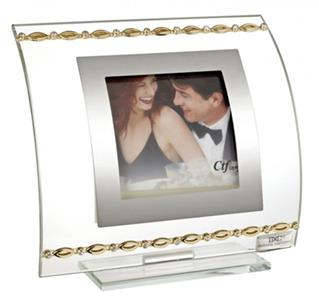 Italian Picture Frame With Gold Links &  Swarovski Crystal Elements