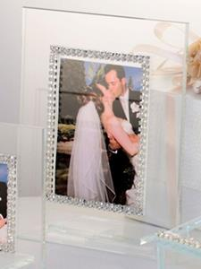 Italian Picture Frame With Swarovski Crystals Border