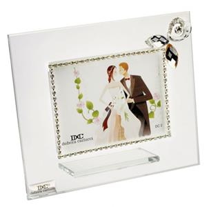 Italian Photo Frame With Swarovski Pendant Flower