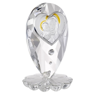 Madonna and Child Italian Crystal Figurine
