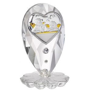 Guardian Angels Italian Crystal Figurine