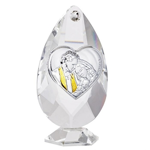 Holy Family Italian Crystal Figurine