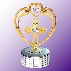 Cross in Heart Mirror Base Music Box