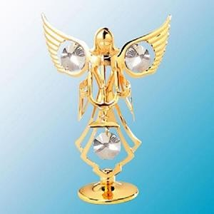Angel With Candle Figurine - Swarovski Crystal Elements