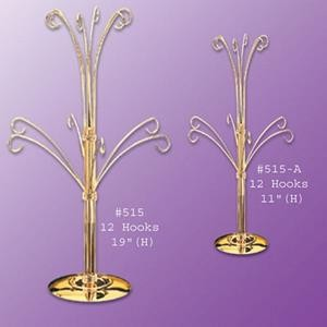 11'' Ornament Display Tree - Gold  or Chrome Finish