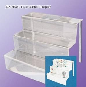 Display Riser - 3-Step Clear Acrylic