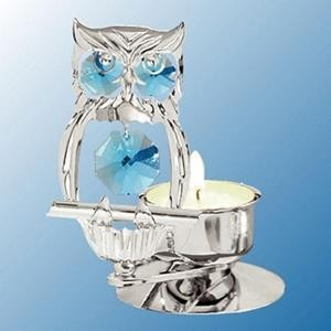 Hootie's Tealight Candle Holder - Swarovski Crystal Elements