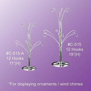 19'' Ornament Display Tree - Chrome Finish