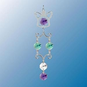 Angel Hanging Charm With Twin  Swarovski Crystals