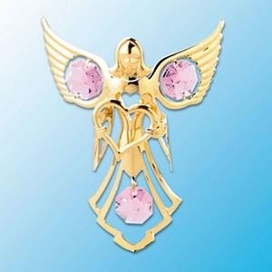 Angel With A Heart Suncatcher - Swarovski Crystal Elements - 6 colors