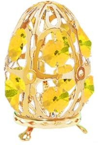 Gold-Plated Tabletop Egg with Swarovski Crystals (5 color choices)