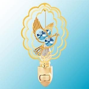 Peaceful Dove Night Light - Swarovski Crystal Elements - 2 Color Choices
