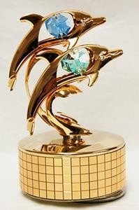 Music Box With Dolphins - ''What A Wonderful World'' - Swarovski Crystal Elements
