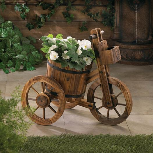 Barrel Tricycle Planter