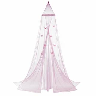 Kids Pink Butterfly Bed Canopy