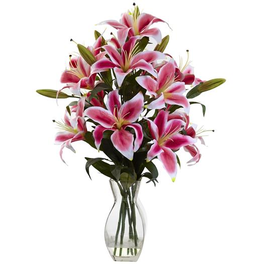 Rubrum Lily Arrangement