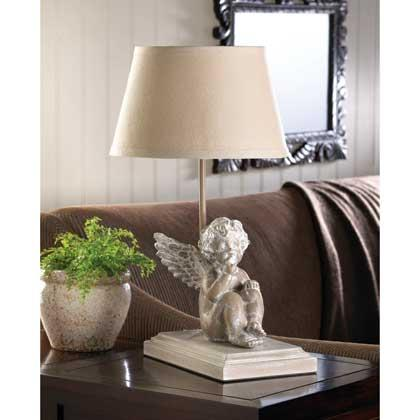 Musing Cherub Table Lamp