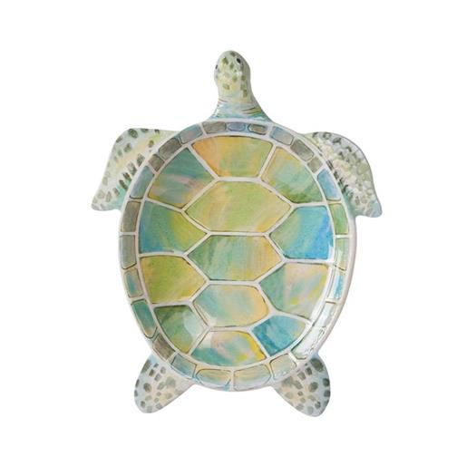Melamine 9.75 inch Beach Turtle Dinner Plates