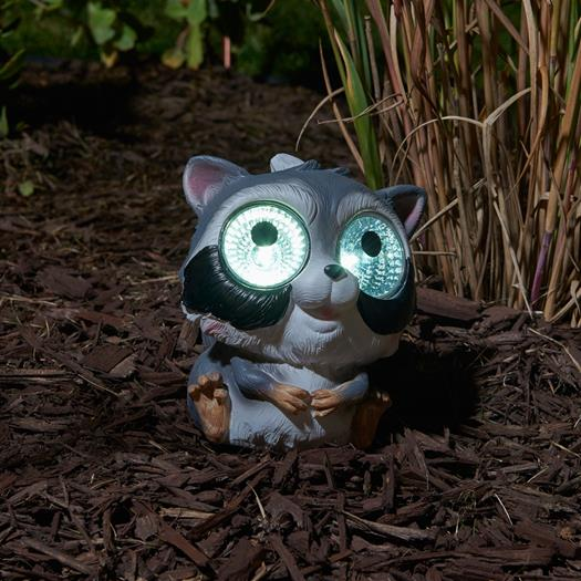 Solar Garden Pal- Raccoon 2-pack