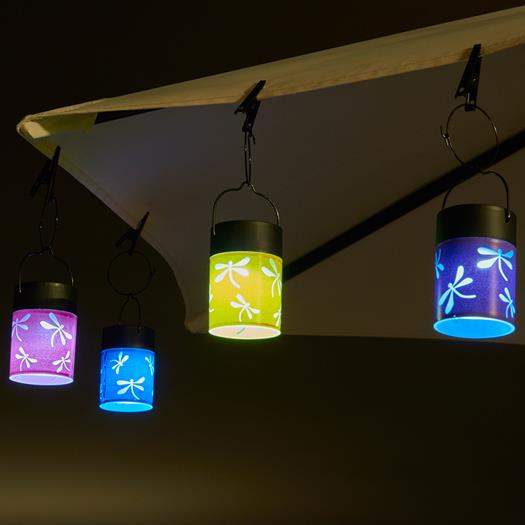 Fiesta Hanging Umbrella Solar Lanterns