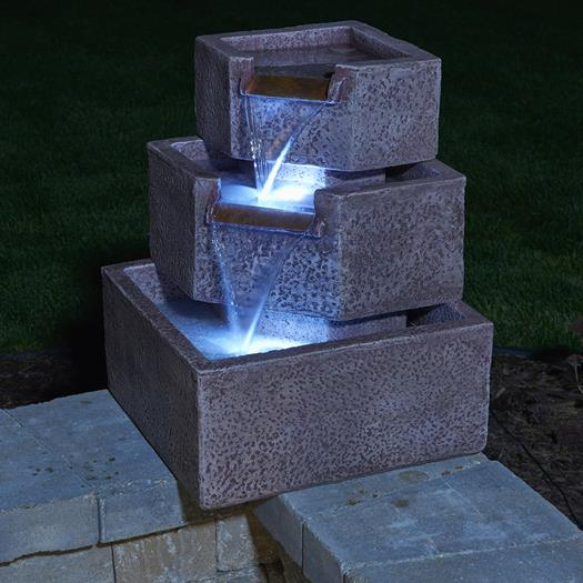 Cascadia Falls Electric Fountain with LED's