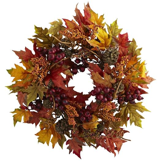 24inch Maple and Berry Wreath