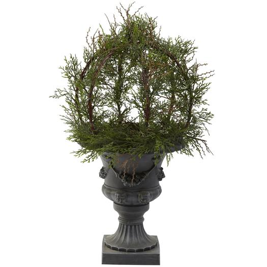 30 inch Pond Cypress Topiary w/Urn (Indoor/OutDoor)