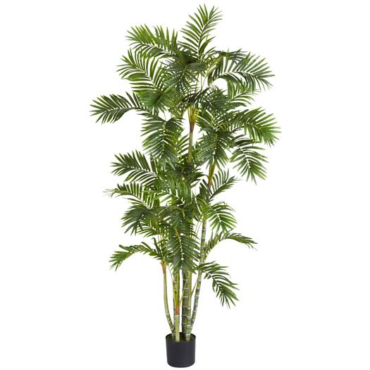6 foot Areca Palm Silk Tree