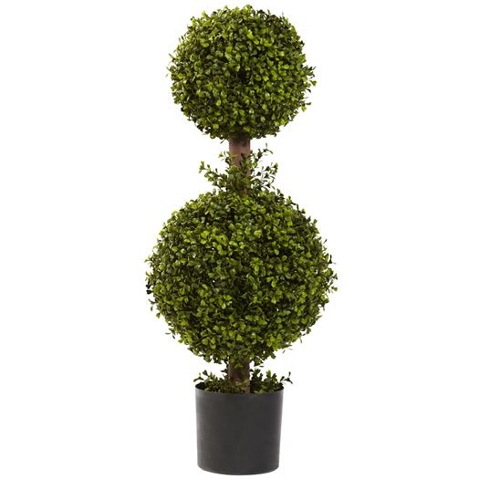 35 inch Double Boxwood Topiary