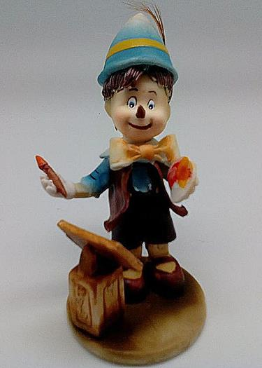 Porcelain Pinocchio the Artist Figurine