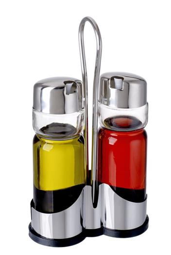 Stainless Steel Oil and Vinegar Cruets
