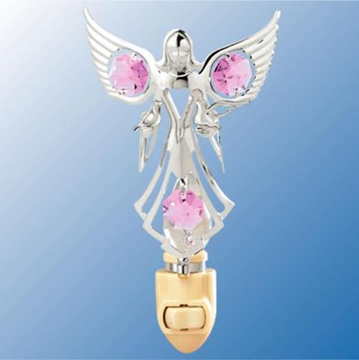 Heavenly Angel With Doves Nightlight - Swarovski Crystal Elements