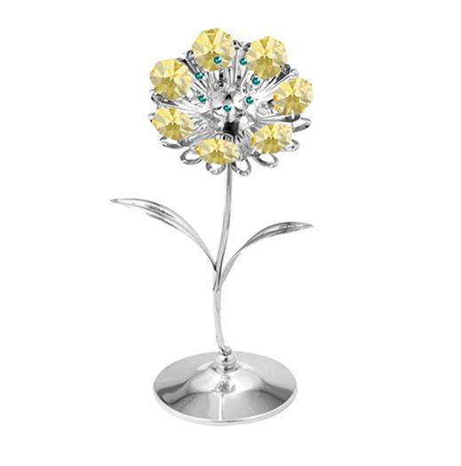 Sunflowers Figurine Swarovski Crystal Elements