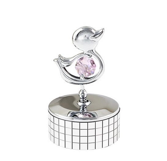 Duckling Mirrored Mini Music Box