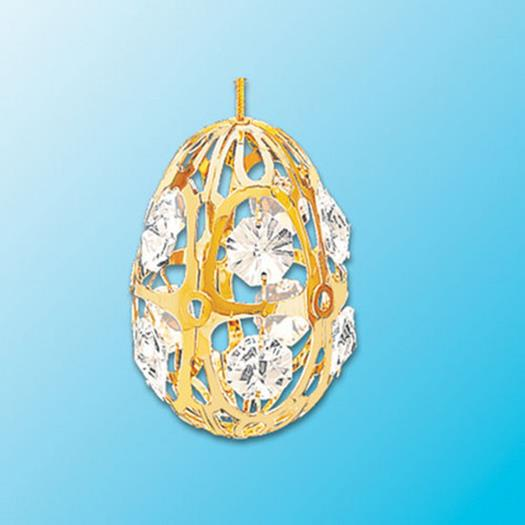 Crystal Egg Ornament - Swarovski Crystals