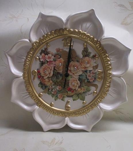 Via Veneto Collectibles Ceramic Flower Clock