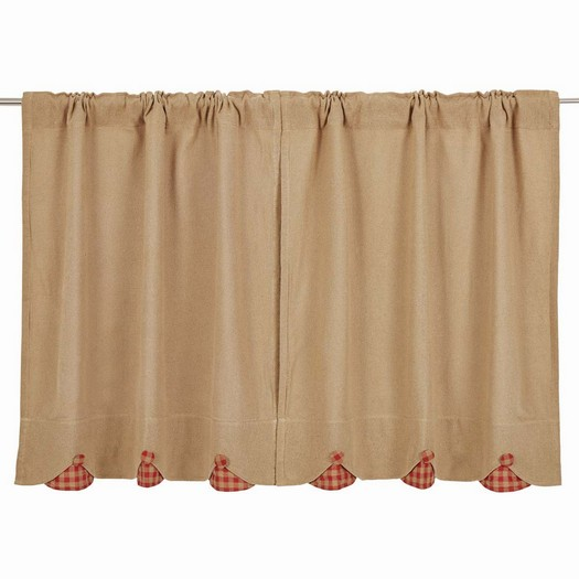 decorative tiers curtains
