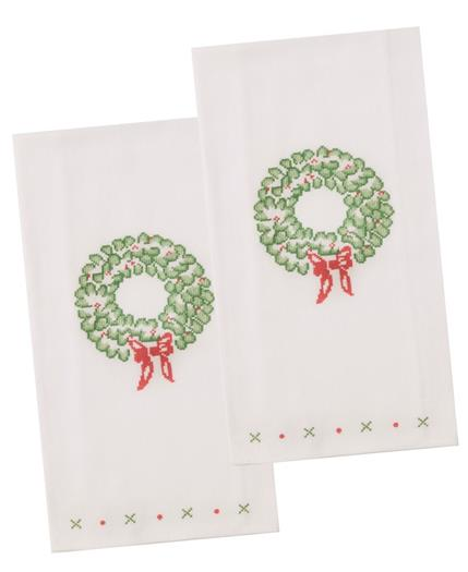 Christmas Wreath Dish Towels