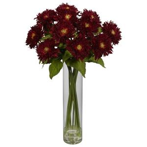 Red Sunflower w/Cylinder Silk Flower Arrangement