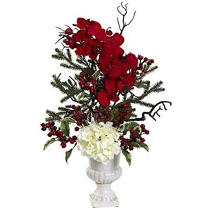Holiday Elegance Arrangement with Urn