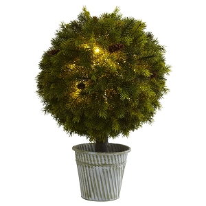 23'' Pine Ball in Iron Top - LED Lights