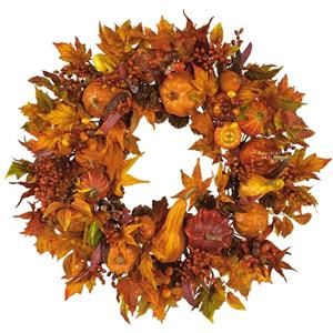 28'' Pumpkin Wreath